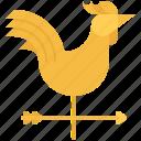 farm, farmer, garden, gardener, rooster, vane, weather icon