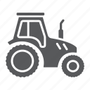 agriculture, farm, farming, machine, tractor, transport, vehicle icon