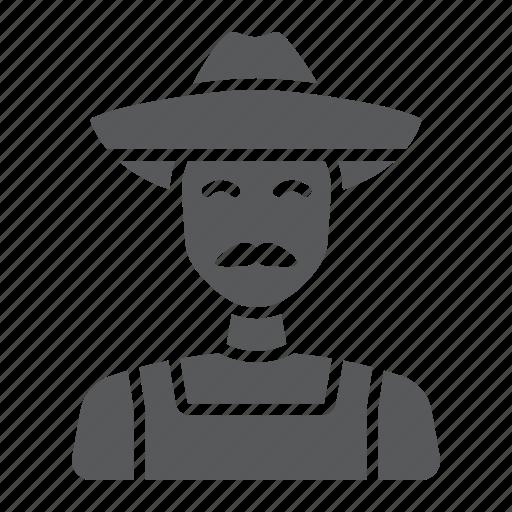 agriculture, farm, farmer, farming, gardening, man, person icon