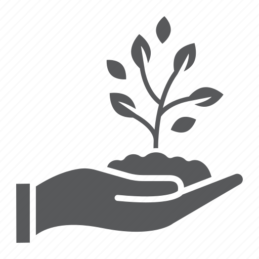agriculture, care, eco, farming, hand, plant, sprout icon