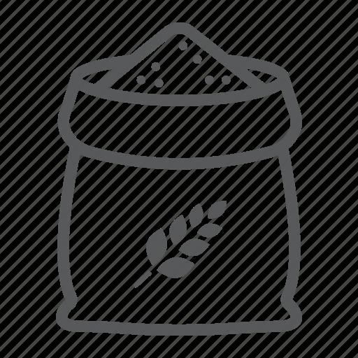 agriculture, bag, farming, flour, grain, rye, wheat icon