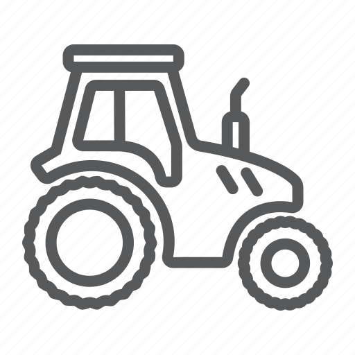 Farm, machine, transport, vehicle, farming, agriculture, tractor icon