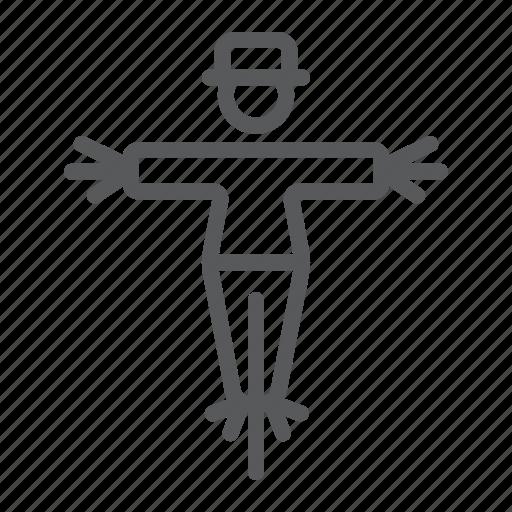 agriculture, decoration, farm, farming, guard, halloween, scarecrow icon