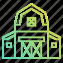 barn, buildings, estate, farm, gardening, real icon