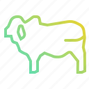 animal, beef, cow, food, meat, restaurant icon