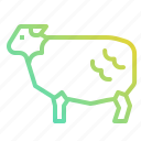 animals, farm, farming, food, mammals, sheep icon