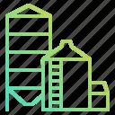 barn, buildings, estate, farm, real, silo, storage icon
