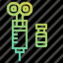 animal, care, farm, health, medical, syringe, vaccine icon