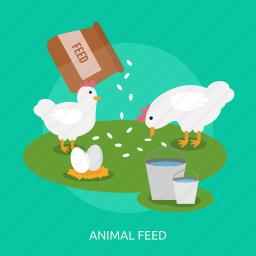 animal feed, bucket, chicken, egg, farming, feed, lovestock icon
