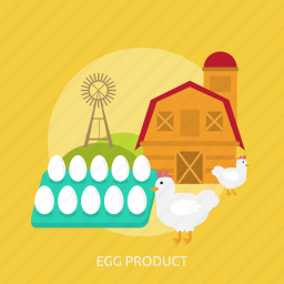 agriculture, cage, chicken, egg, farm, product, windmill icon