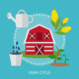 agriculture, bucket, cage, corn, flush, sprout, vegetable icon