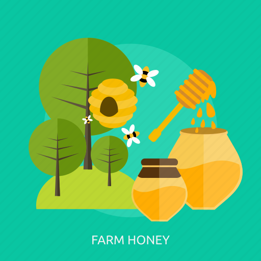 agriculture, bee, bottle, farm, green, honey, tree icon