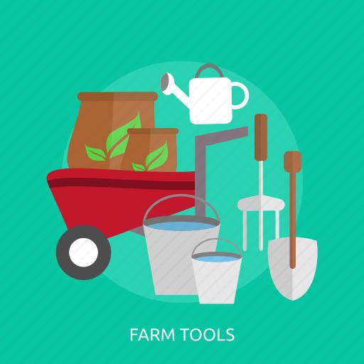 agriculture, bucket, cart, farm tools, harvest, manure, shovel icon