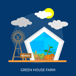 cabbage, farm, green house farm, pumpkin, sprout, sun, windmill icon