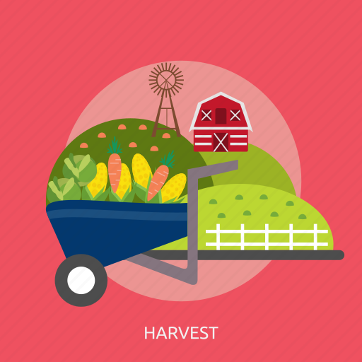 cabbage, carrot, corn, countryside, fence, harvest, windmill icon