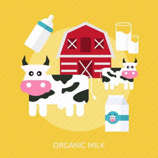 agriculture, cage, cow, farming, glass, milk, organic icon