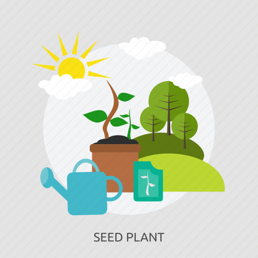 agriculture, could, farming, landscape, seed plant, sun, tree icon