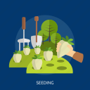 agriculture, countryside, farming, onion, seeding, tree, vegetable icon