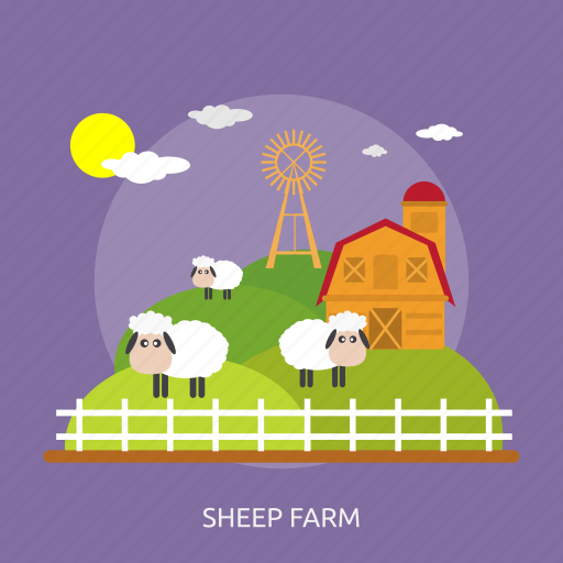 agriculture, cage, farming, fence, harvest, sheep farm, windmill icon