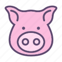 animal, farm, head, hog, pig, swine icon
