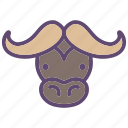 animal, buffalo, bull, cattle, farm, head icon