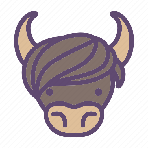 Animal, bull, cattle, farm, head, yak icon - Download on Iconfinder