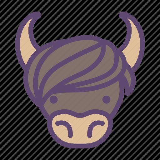 animal, bull, cattle, farm, head, yak icon