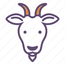 animal, cattle, farm, goat, head icon