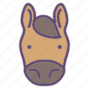 animal, farm, head, horse icon