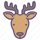 animal, cattle, deer, farm, head icon