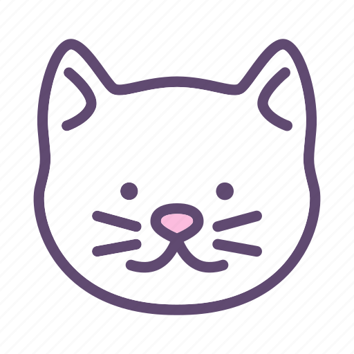 Animal, cat, head, kitty, pet icon - Download on Iconfinder