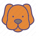 animal, dog, doggie, head, pet icon