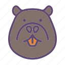 animal, coypu, farm, head, nutria icon