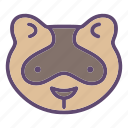 animal, farm, ferret, foumart, head, polecat icon