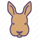 animal, bunny, farm, hare, head, rabbit icon