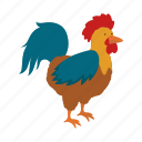 animal, bird, farm, pet, rooster icon