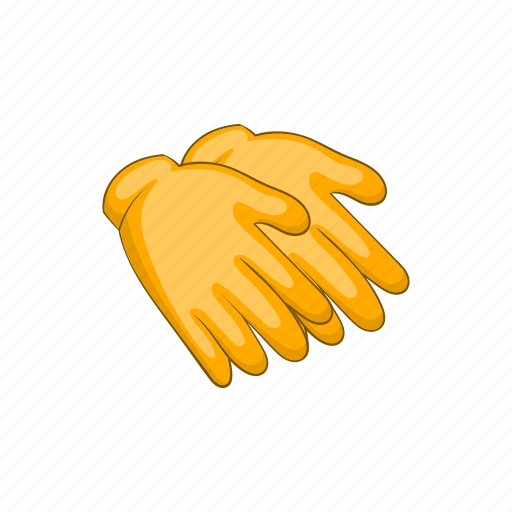 cartoon, glove, hand, protection, protective, rubber, safety icon