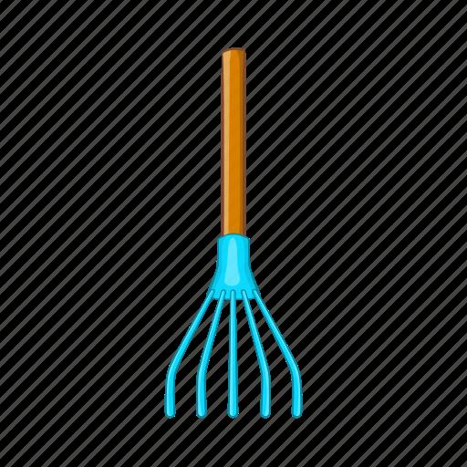 cartoon, garden, gardening, outdoor, rake, tool, work icon