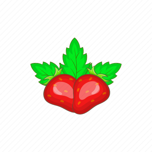 berry, cartoon, fresh, red, ripe, strawberry, sweet icon