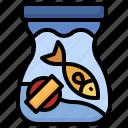 fish, feeding, feed, animals, food, bag