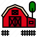 barn, building, farm icon