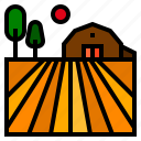 barn, farm icon