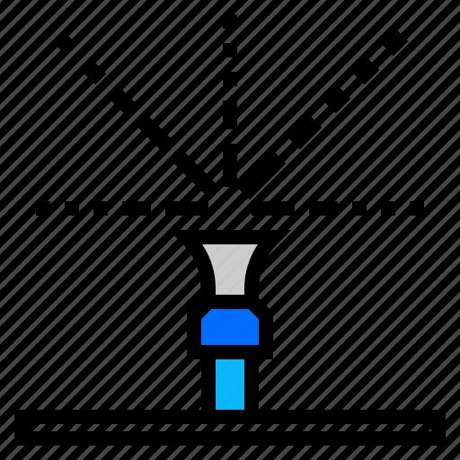 spread, sprinkler, water icon