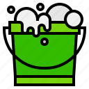 bucket, cleaning, wash icon