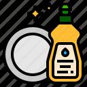 dish, washing icon