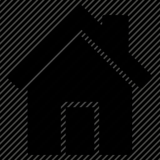building, estate, garden, home, house, real icon icon