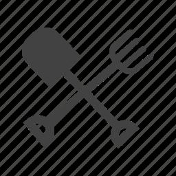 farm, gardening, rake, shovel, spade, tools icon