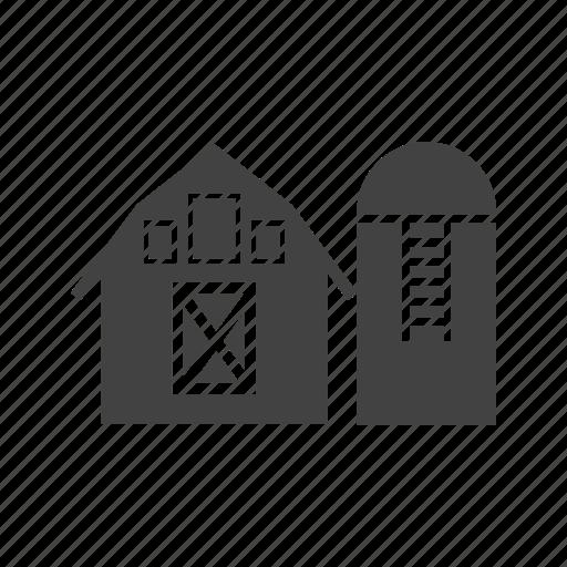 agriculture, farm, farmer, grain, silo, storage, wheat icon