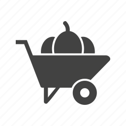 agriculture, barrow, cart, farm, gardening, spade, wheelbarrow icon