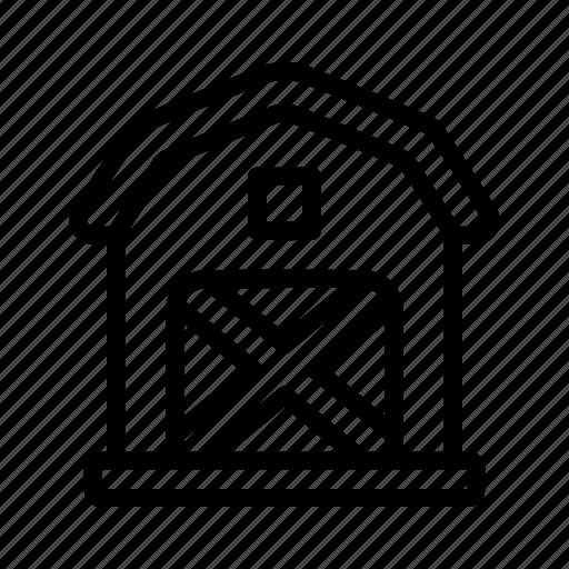 building, farm, house icon